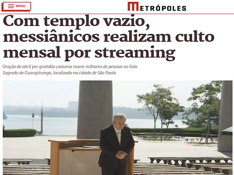 Culto Mensal do Solo Sagrado de Guarapiranga é destaque no Portal Metrópoles (DF)
