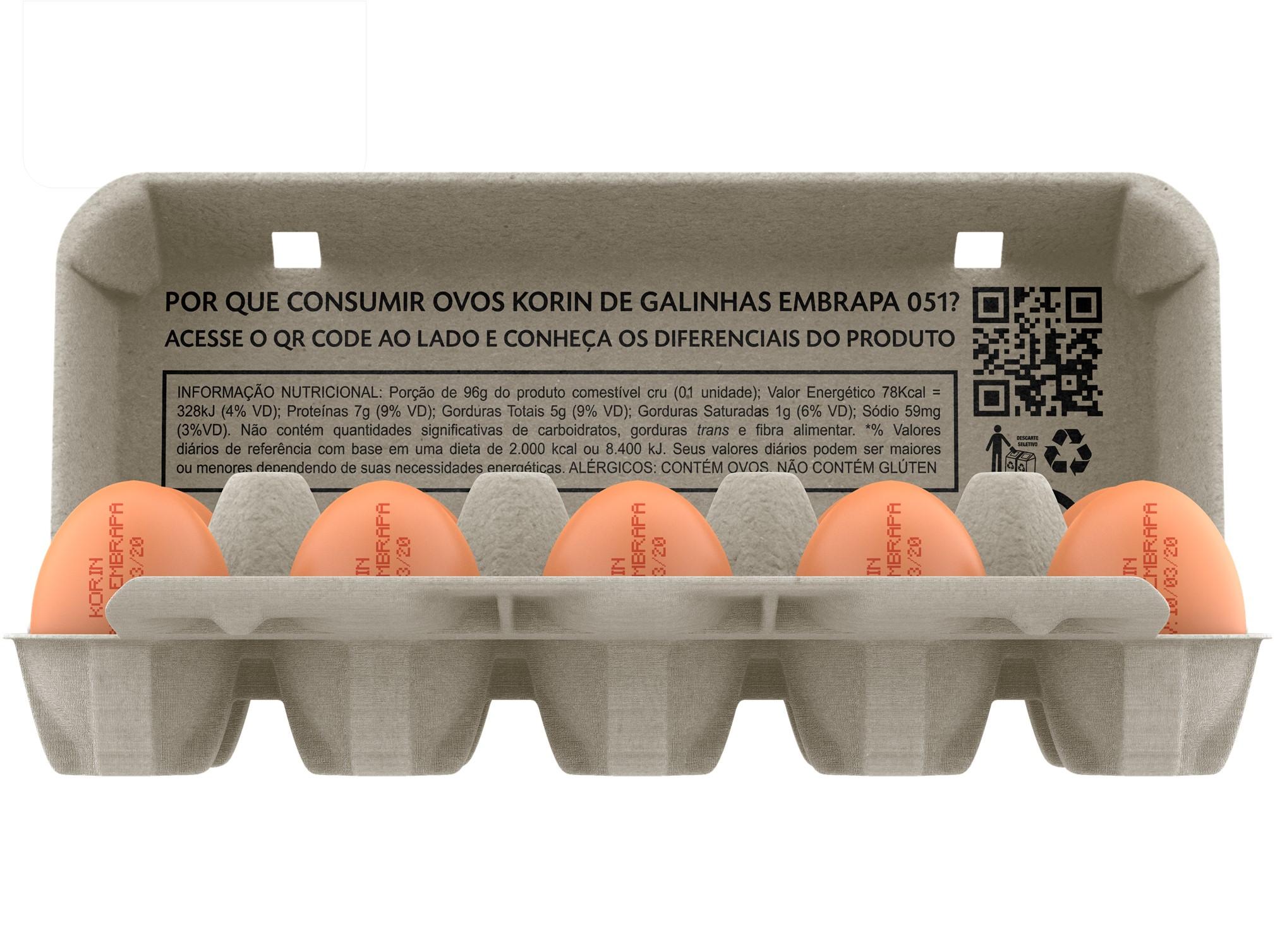 Ovos caipira Korin-Embrapa são oficialmente lançados em matéria do jornal Valor Econômico
