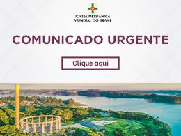 Comunicado a respeito do Culto Mensal de Agradecimento de março do Solo Sagrado de Guarapiranga