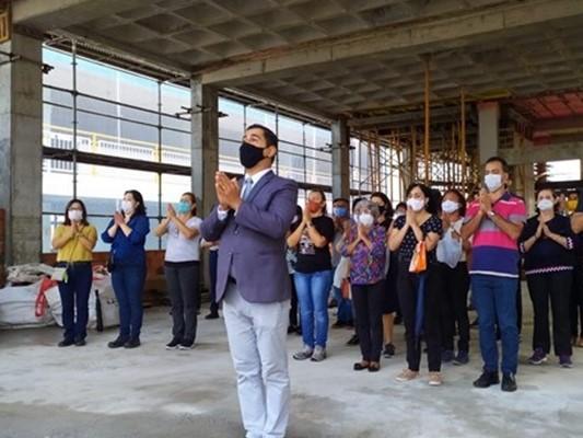 Representantes da Divisão de Projetos da IMMB visitam as obras da futura Igreja Aracajú
